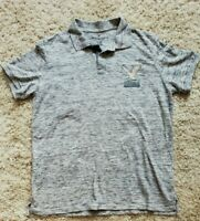 American Eagle Outfitters Men's Cotton Polo Shirt Grey Size XL