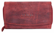 Women's dark red strong genuine leather wallet Wild thing only