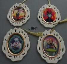 Lenox Disney Maleficent Ursula Evil Queen Cruella Villains Ornament Set of 4 New