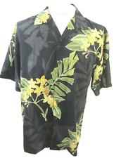 TOMMY BAHAMA Men Hawaiian ALOHA shirt pit to pit 23.5 M silk floral camp luau
