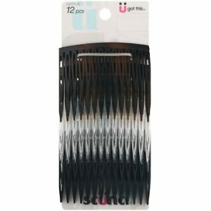 Scunci Effortless Beauty Side Hair Combs, Assorted Colors, 12-Pcs