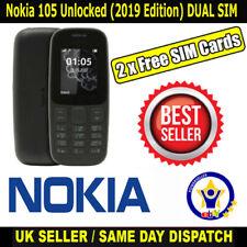 Nokia 105 (dual) Sim Desbloqueado (edición 2019) teléfono negro con 2 Sims libre de Reino Unido