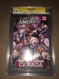 CAPTAIN AMERICA #1 CGC SS 9.8 SIGNED STAN LEE FanExpo 2011 Exclusive AlphaFlight