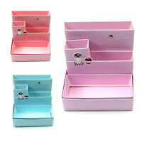 Make-up Design Paper Board Storage Box Desk Decor Stationery Organizer Set Women