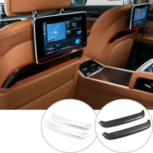 ABS Chrome For BMW 7 Series G11 G12 2016-2021 Seat Back Decorative Cover Trim