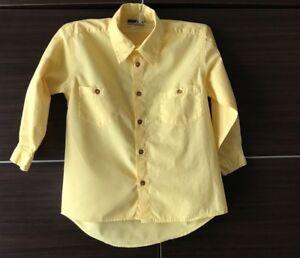 NEW! Lui & Lei Shirt Makers Boys' Long Sleeve Button Down Shirt Italy Yellow 5/6