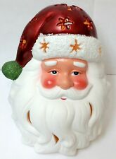 Home Reflections Christmas Santa Claus Flameless Led Candle Luminary with Timer