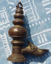 alte Bronze Oellampe antique oil lamp Drachenkopf Nepal China Tibet  Öllampe