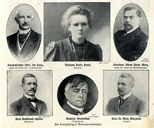 Madame Curie u.a. Nobelpreisträger ( Historische Presse-Aufnahmen von)  1911