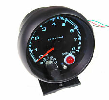 Universal 80 mm tachimetro RPM Gauge MULTI COLORE LUCE CON LUCE CAMBIO Avvertenza