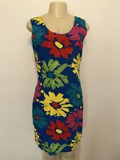 "Vintage JAMS WORLD Hawaiian ""Burst"" Artsy Floral Tropical Sun Shift Dress M/L"