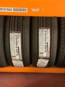2 X 215 45 R18 93V Nankang AS-1  Branded Summer Tyre