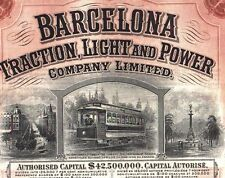Barcelona Traction Light and Power wr Aktie 1923 Katalonien Spanien Straßenbahn
