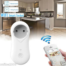 Wireless Remote Control Timer Switch WiFi Smart Power Socket Outlet AC EU Plug