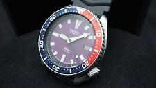 Vintage Seiko Divers Watch 7002 Auto Fecha Mod púrpura Dial Bisel Pepsi J58.