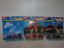 (3) Hot Wheels Action Packs - Fire Fighting/Police Force/Home Improvement - NEW