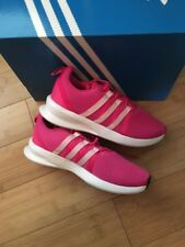 Adidas Loop Racer Trainers Size 3 BNIB Pink & White