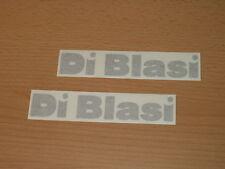 DiBlasi 2x Tankaufkleber silber Di Blasi Schriftzug Emblem
