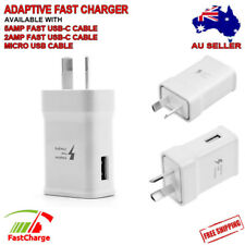 For SAMSUNG ADAPTIVE FAST Charger AC Wall Adapter S7 S6 Edge Note 4 5 C9 9V AU