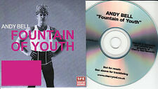 ANDY BELL Fountain Of Youth 2014 UK 1-track promo test CD