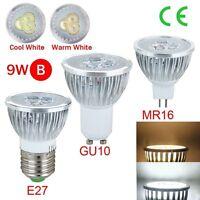 E27/GU10/MR16 Dimmable LED Light Lamp Spotlight Bulb 3W 9W 15W Warm/Cool White