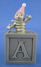 Selangor Pewter Hudson Trinket Box Toy Block Clown Jack Enamel Vintage 1982
