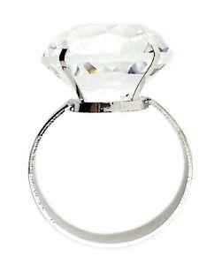 Acrylic Diamond Ring Bridal Napkin Holder- Set of Six