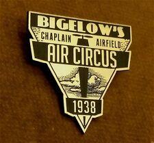 CUSTOM BIGELOW AIR CIRCUS SOUVENIR BADGE PROP ROCKETEER PINBACK AIR RACES
