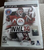 EA Sports NHL14 Sony PS3 PlayStation 3 Game And Case No Manual Very Good