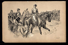 FAVOURITE FOR THE COUNTY CUP 1883 Finch Mason Horses LITHOGRAPH
