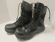 Reebok Military Dauntless 8in Side Zip Mens Black Boots - Size 9M   RB8826