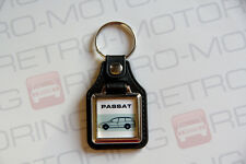 VW Passat B5 Estate Keyring - Leatherette Classic Retro Car / Wagon Keytag