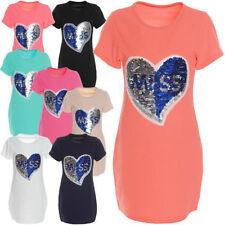 Kurzarm Mädchen-Tops, - T-Shirts & -Blusen aus Mischgewebe