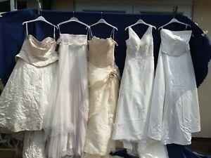 JOBLOT 5 X BRIDES WEDDING FULL LENGTH DRESSES .PARTY PROM FANCY DRESS #18