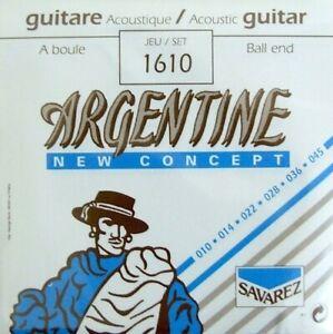 Savarez Argentine 1610 Extra Light Ball End Gypsy Jazz Guitar Strings 010 - 046