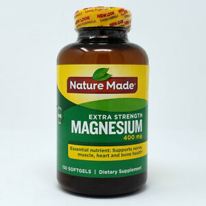 Nature Made Extra Strength Magnesium 400 mg 150 Softgel Dietary Supplement