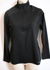 PATAGONIA Womens Black Capilene Midnight 1/2 Zip Baselayer Shirt XS