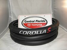 Black with White lettering Toyota COROLLA S Steering Wheel Cover