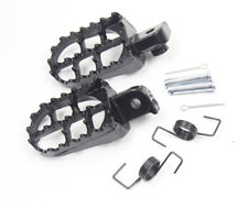 Black Footrest Foot Pegs For 1987-2013 Kawasaki KLR 650 KLR650 footpegs