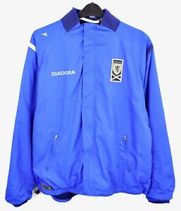SCOTLAND Diadora Men's 2XL Jacket Tracksuit 2000's Training Football Coat Soccer