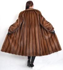 M345 Visone Cappotto Visone Cappotto Cappotto di pelliccia pelliccia SAGA MINK FUR COAT JACKET ~ XL