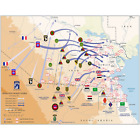 Map of Ground Operations of Operation Desert Storm from February 24-28th 1991 Pr