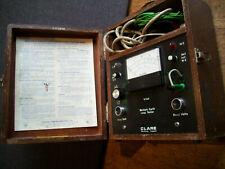 Vintage Wooden Cased Clare Multiple Earth Loop Tester V.144 (Electric Volts)