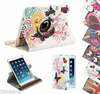 360 Degree Rotating Leather Stand Case for Apple iPad 2 3 4, Air (2014) & Mini