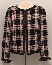 Weill Vintage Size 12 Tweed Jacket Blazer Pink Black Fully Lined f24c838f9ca4