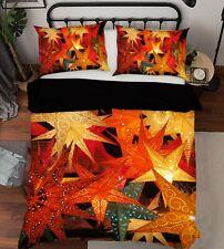 3D Color Maple Leaf Light N763 Christmas Bed Pillowcases Quilt Cover Duvet Amy
