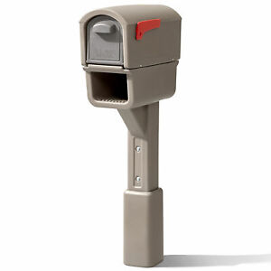 Step2 578799 MailMaster Express Plus Plastic Weather Resistant Mailbox, Tan