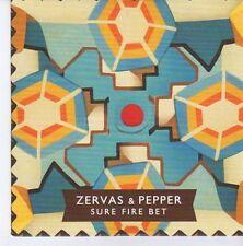 (DZ868) Zervas & Pepper, Sure Fire Bet - 2013 DJ CD