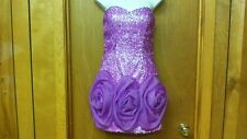 BG HAUTE Sleeveless Purple & White PARTY/PROM DRESS, size 2, polyester