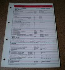 Inspektionsblatt Honda Civic 1.6i Kat Modelljahr 1988!